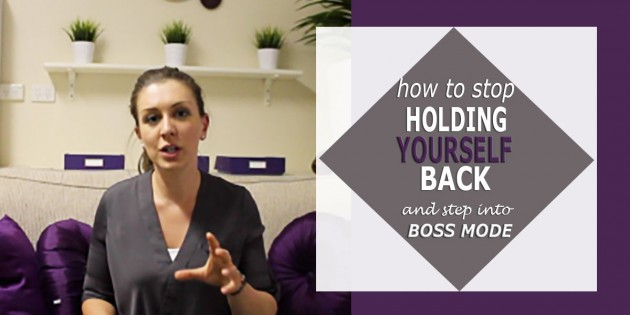 how to stop holding yourself back